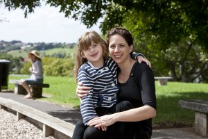 Maia with mum, Jillian in the park